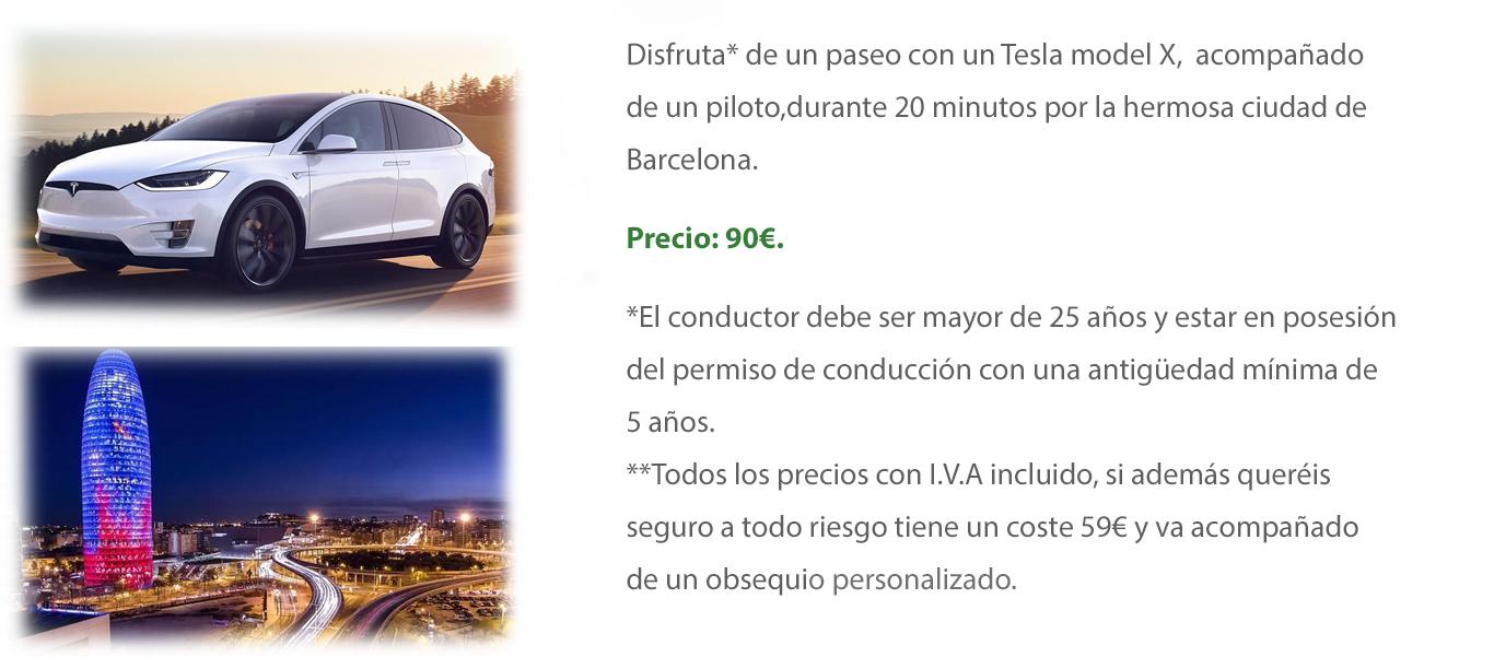 Tesla Model X 20 minutos por Barcelona