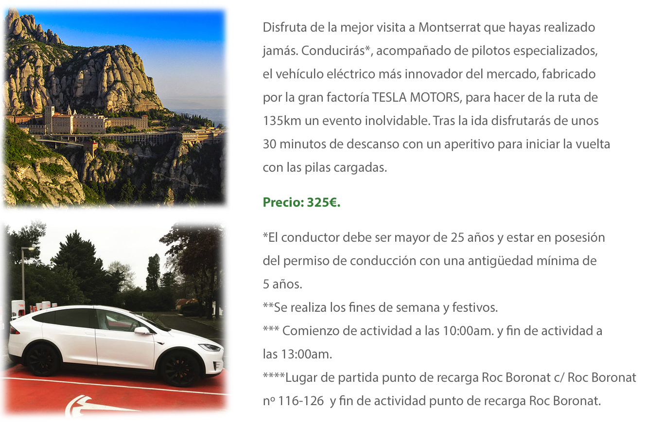 Tesla Model X ruta a Montserrat