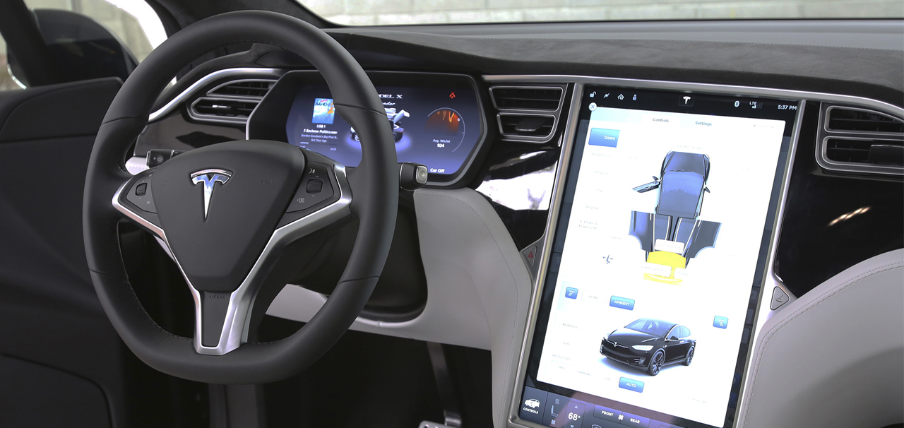 interior tesla model x barcelona green electric cars
